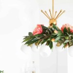 DIY Floral Chandelier Garland