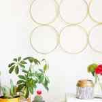 DIY Brass Ring Wall Decor