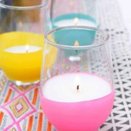 DIY BALLOON DIPPED CITRONELLA CANDLES - sugar and cloth