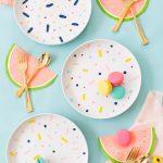 DIY Confetti Pattern Placemats