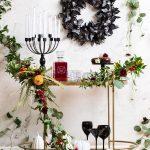 Spooky DIY Floral Bar Cart for Halloween