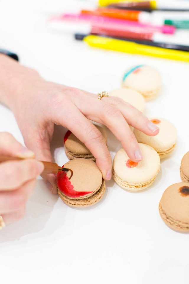 DIY boob macarons and printable Valentines by top Houston blogger, Ashley Rose of Sugar and Cloth