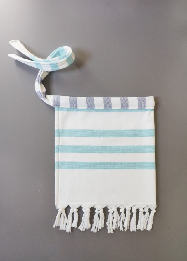 Cabana Stripe Apron by Sugar & Cloth, an award winning DIY, home decor, and recipes blog.