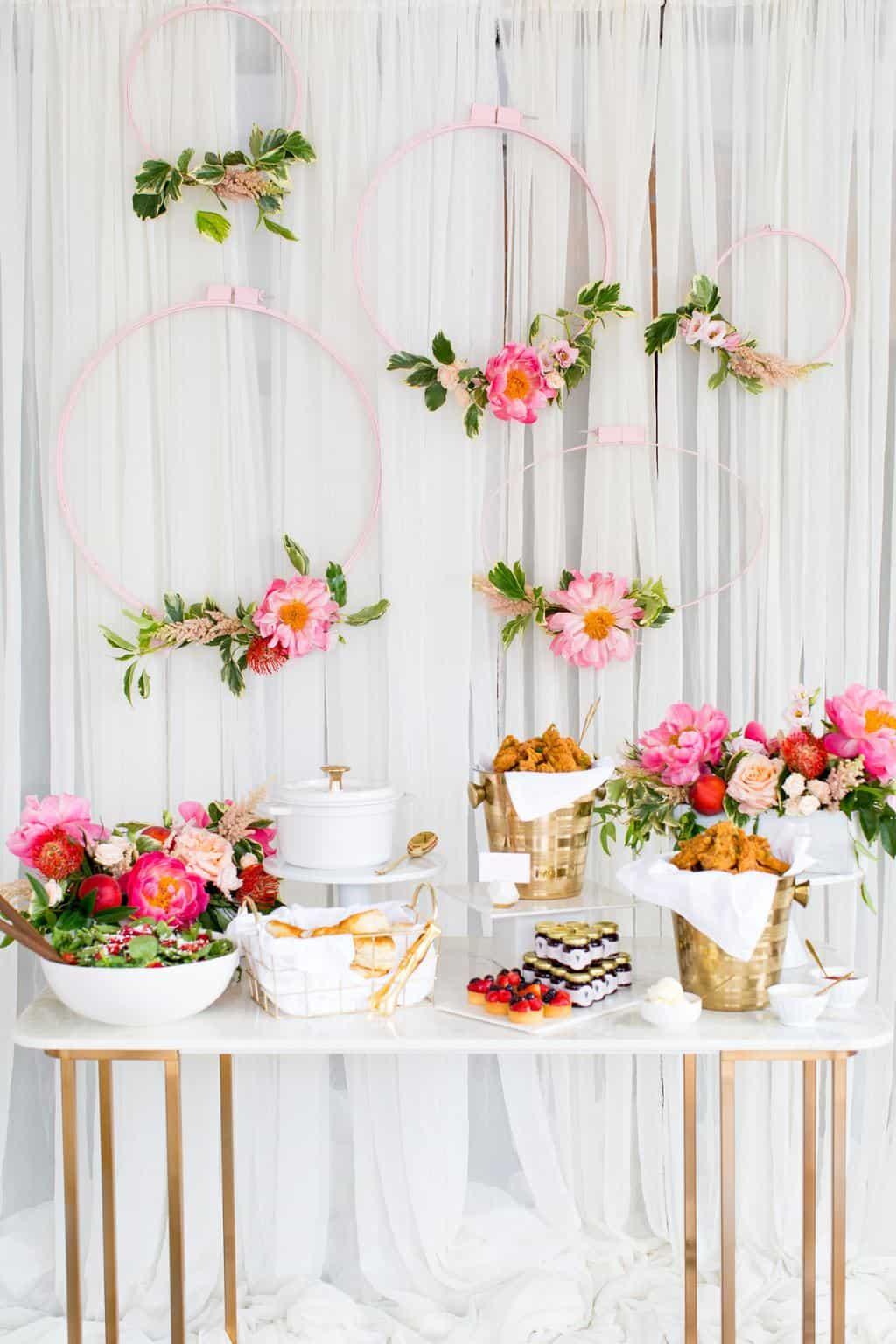 Southern Inspired Bridal Shower  Sugar  Cloth Entertaining