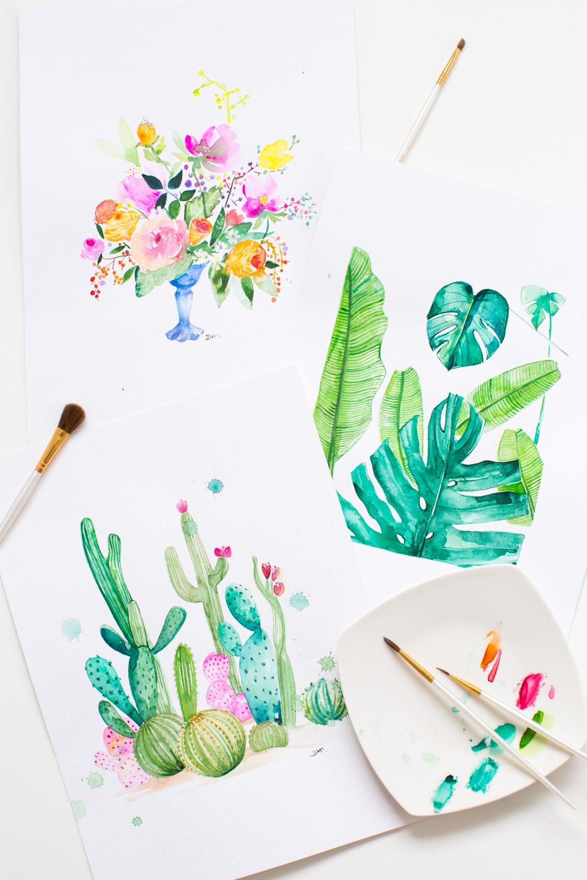 Diy Watercolor Printable Wall Art