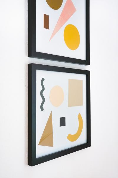 DIY Paper Shapes Wall Art by Ashley Rose of Sugar & Cloth, a top lifestyle blog in Houston, Texas