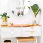 Diy Dressing Table How To Make An Ikea Vanity Hack Sugar Cloth