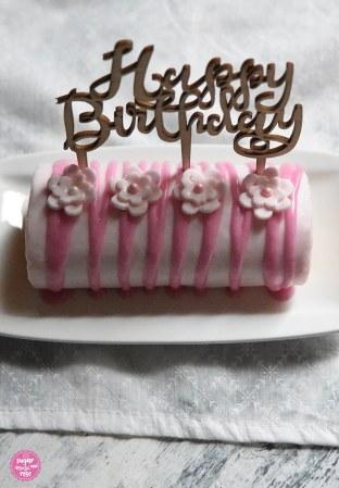 Eierlikör-Punschrolle Happy Birthday