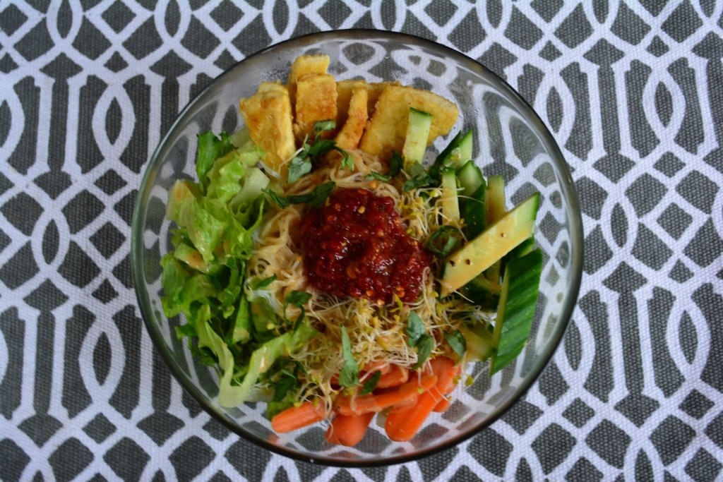Vermicelli and Tofu Bowl