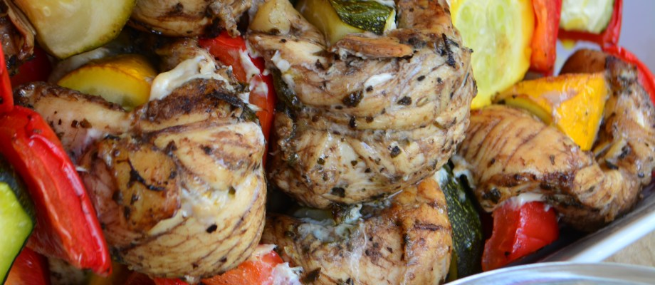 Greekish Chicken Shish Kabobs
