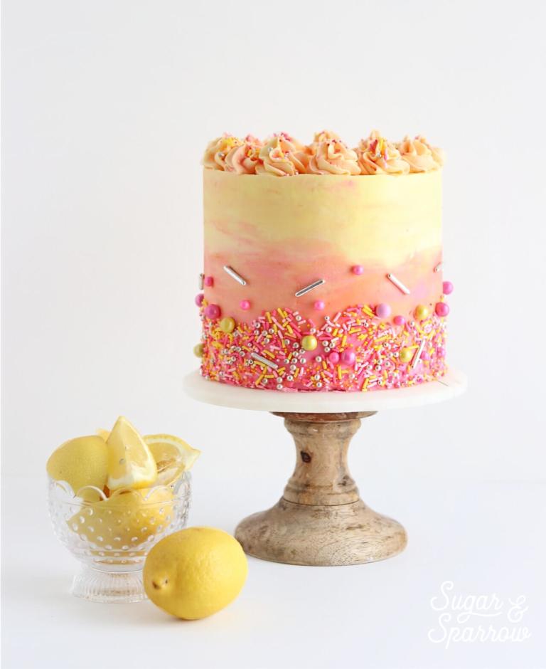 18. Strawberry Lemonade Cake