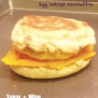 Egg White McMuffin (Weekly Breakfast Prep)