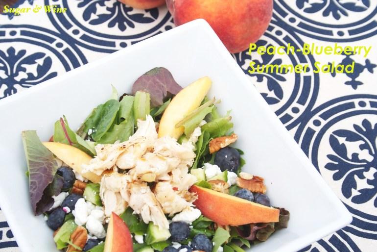 Peach Blueberry Summer Salad