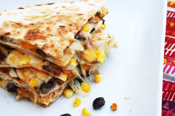 Veggie Quesadilla | Sugar and Wine