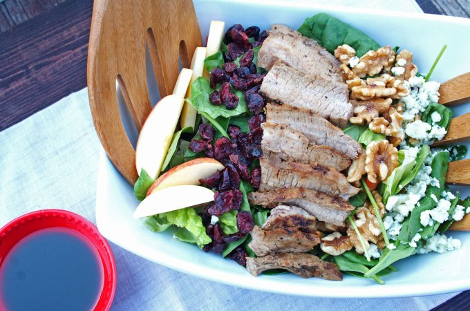 Gorgonzola Steak Salad | Sugar and Wine