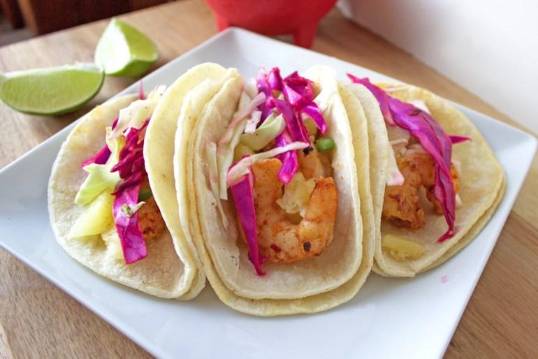 Thai Chili Shrimp Tacos | Sugar and Wine
