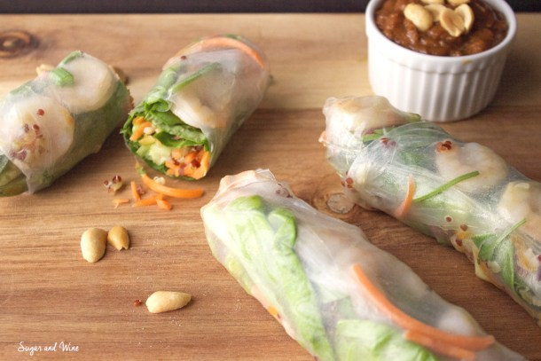 Quinoa Vietnamese Summer Rolls | Sugar and Wine