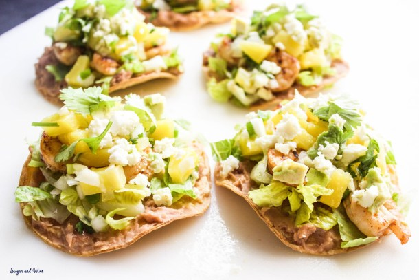 Honey Chili Lime Shrimp Tostadas | Sugar and Wine