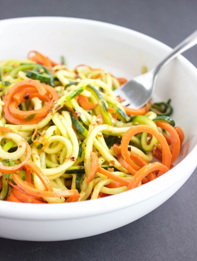 Spicy Veggie Noodles| Sugar and Wine