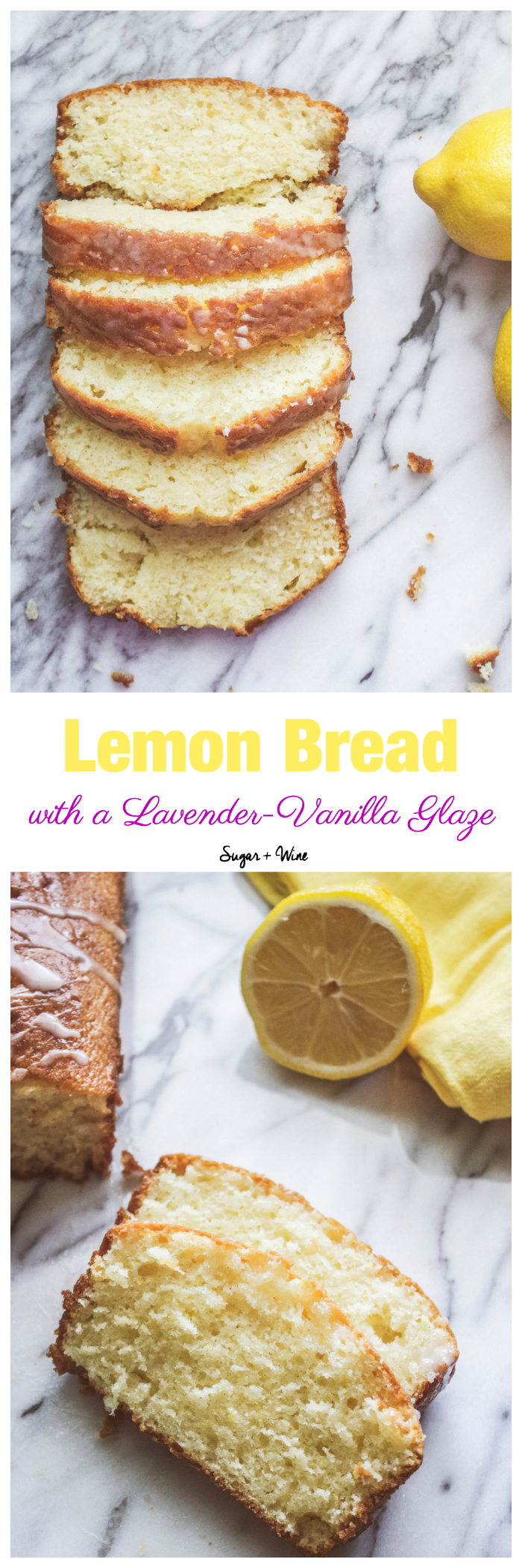 Whether you are looking for a spring treat or a Mother's Day dessert, this Lemon Bread with Lavender-Vanilla Glaze will curb any spring craving and wow your guests!