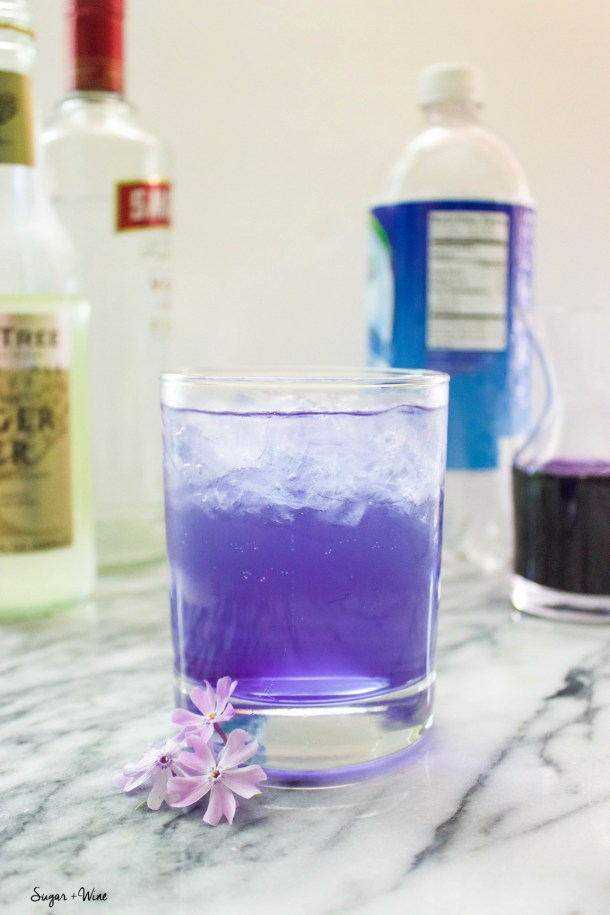 Lilac Ginger Gin Fizz | Sugar and Wine