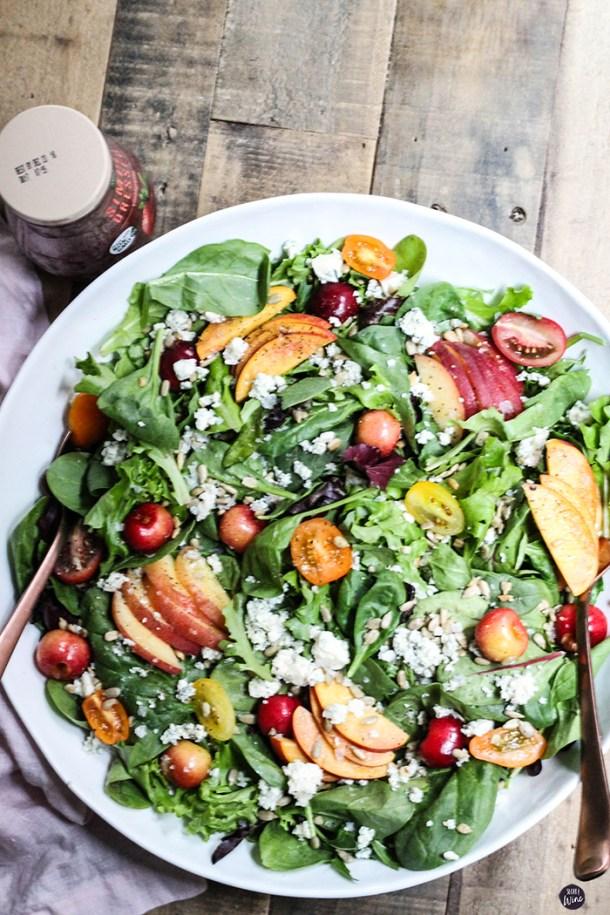 Easy Summer Stone Fruit Salad | Sugar and Wine