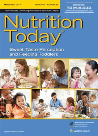 nutrition today journal with information about sugar