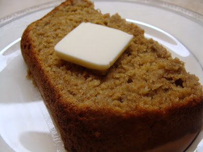 banana bread ww weight watchers points melting butter melted on sugar bananas wheat germ