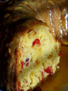 Glazed Orange Cranberry Cake