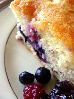 Lemon Soaked Sweet Berry Cake