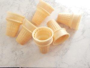 cones on sugar bananas
