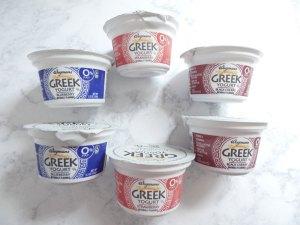 cups of yogurt on sugar bananas
