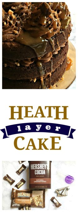 Heath Layer Cake on www.sugarbananas.com