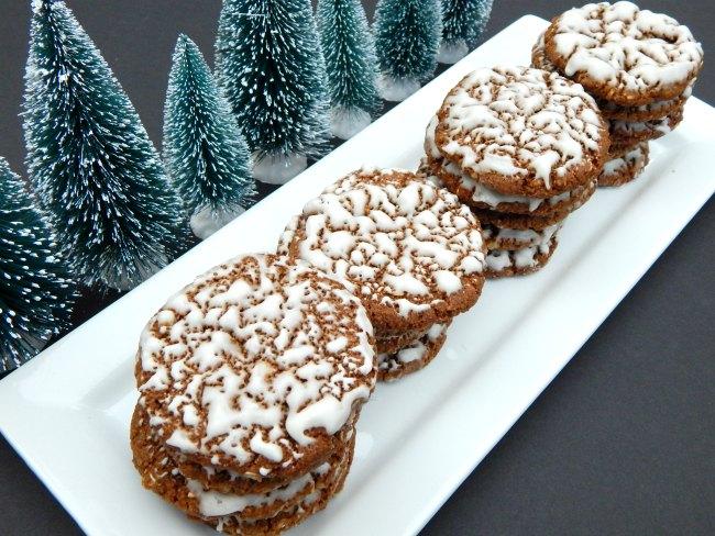 iced oatmeal cookies and trees on www.sugarbananas.com