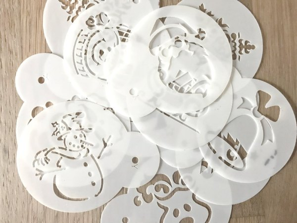 Pile of Christmas Stencils Christmas Party Buffet Food Ideas Sugar Bananas