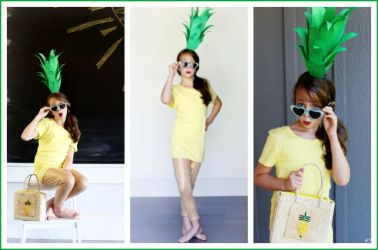 DIY Pinapple Costume Idea How to Make a Fun Pinapple Headdress / Headband