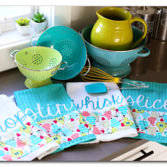 Kitchen Dish Towels Granite Island Custom And Giveaway Sugar Bee Crafts Make Your Own