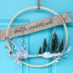 Gnome Winter Hoop Wreath Idea Sugar Bee Crafts