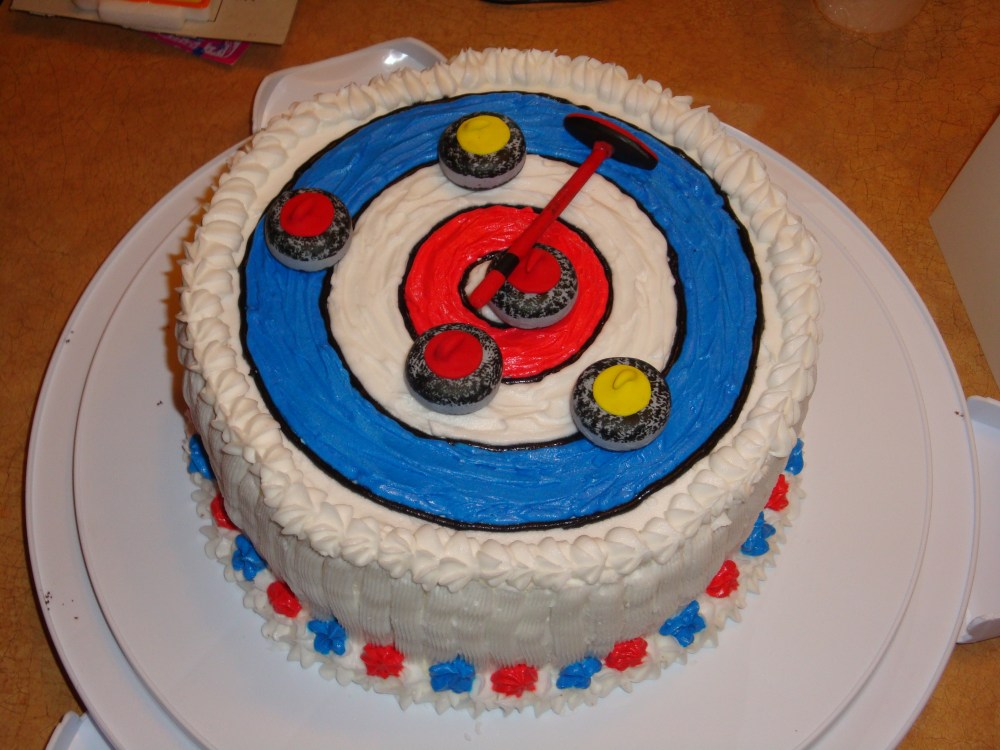 Curling Cake Photos