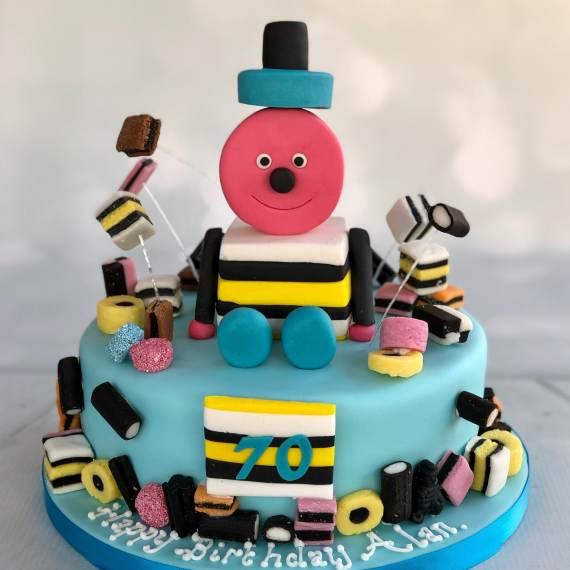 Bertie Basset themed 70th birthday cake