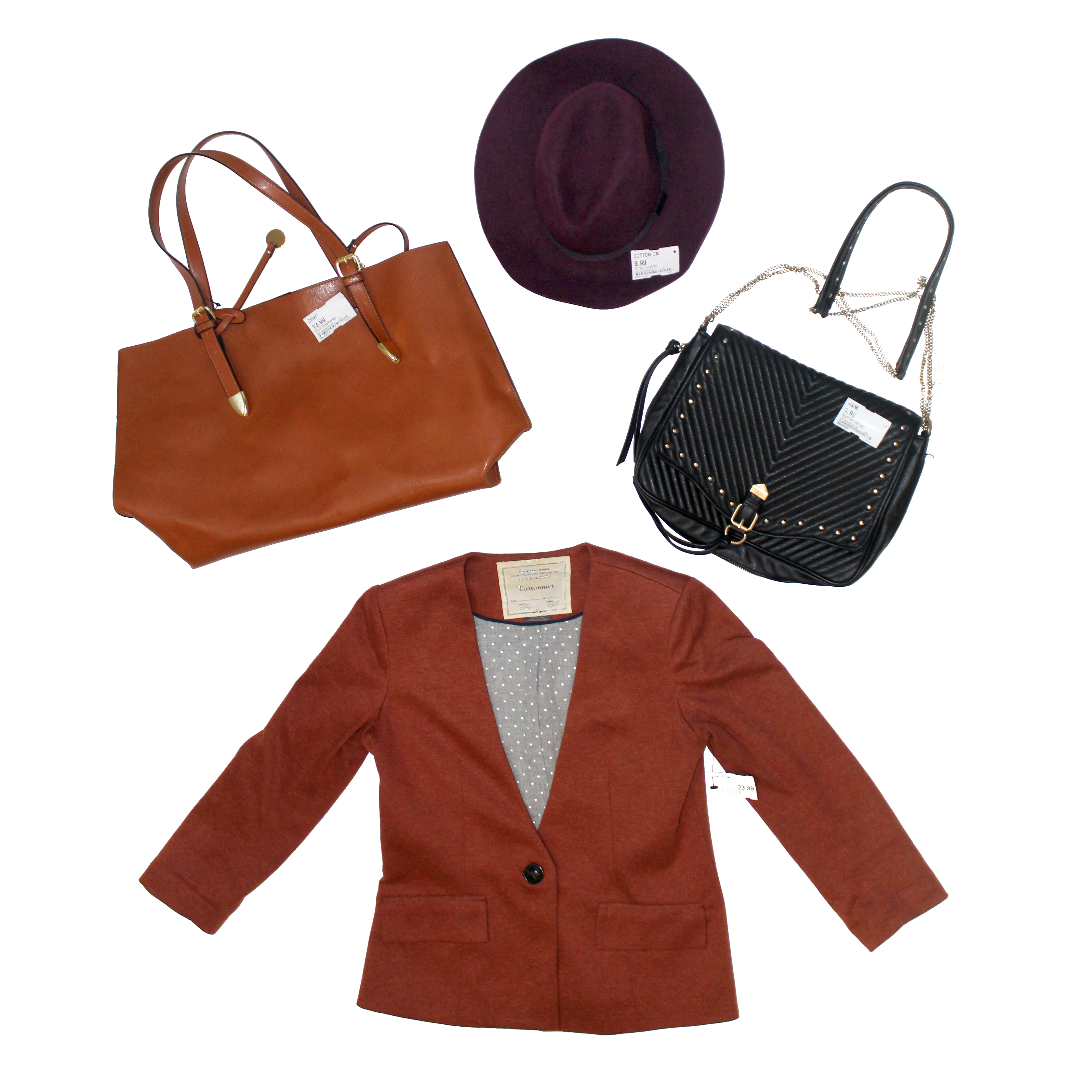 I love uptown cheapskate! i was able to fin these awesome items for an amazing deal!! blazer, black purse, camel tote, and a hat! great prices, affordable fashion. Visit Sugarcoatedhousewife.com