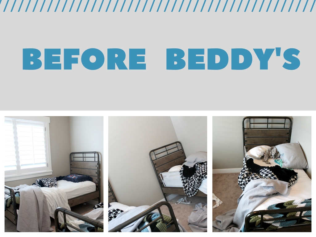 little boy's room make over featuring beddy's bedding