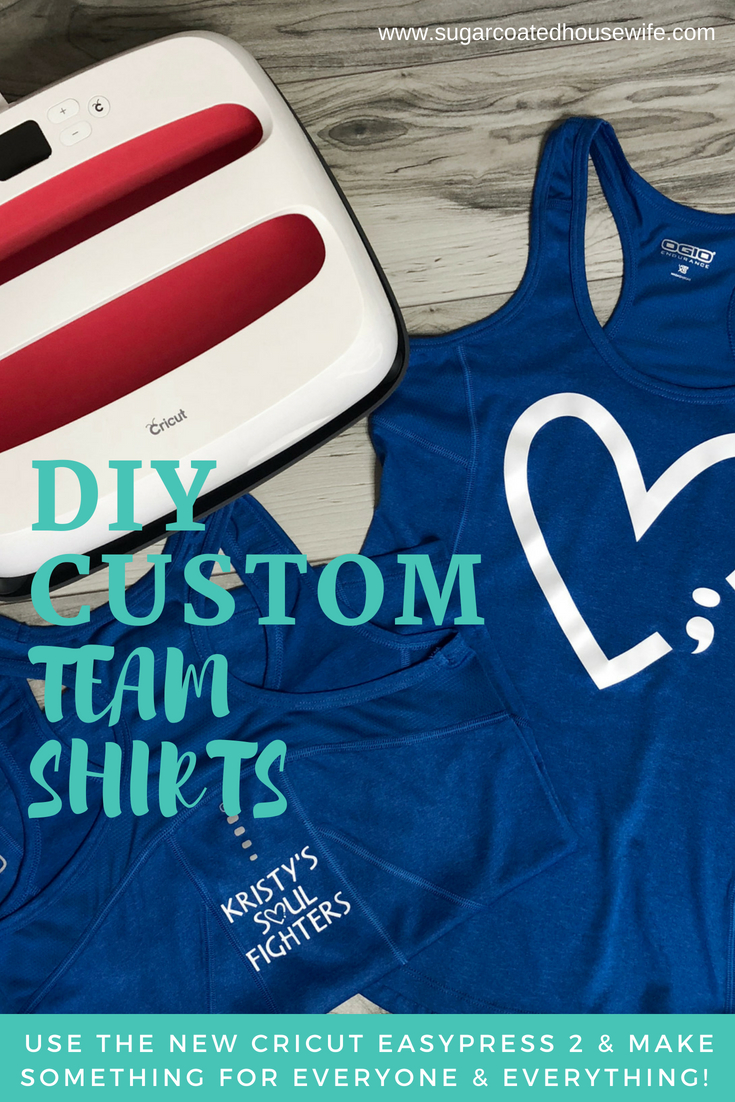 Create custom DIY team, family reunion, and group shirts using the Cricut EasyPress 2. tutorial on www.sugarcoatedhousewife.com