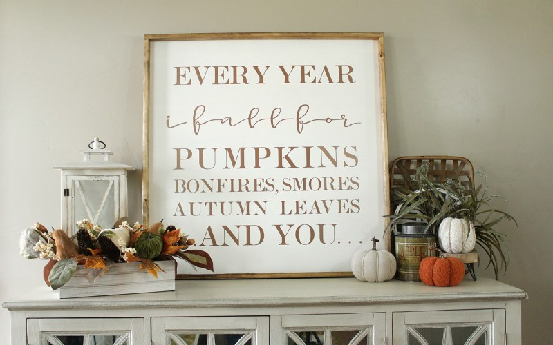 DIY FALL SIGN & TOP 5 REASONS I LOVE MY  CRICUT EXPLORE AIR 2