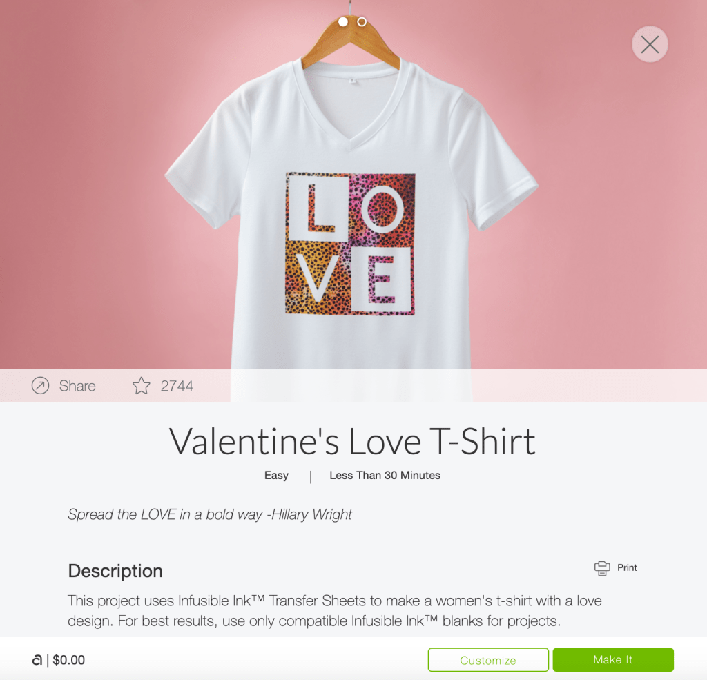 DIY Womens Valentine's Shirt using Cricut Infusible Ink step by step tutorial featured by Sugarcoatedhousewife Craft Blogger Utah