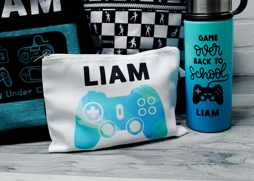 Personalize your back to school items using the Cricut. Gamer theme sugarcoated housewife