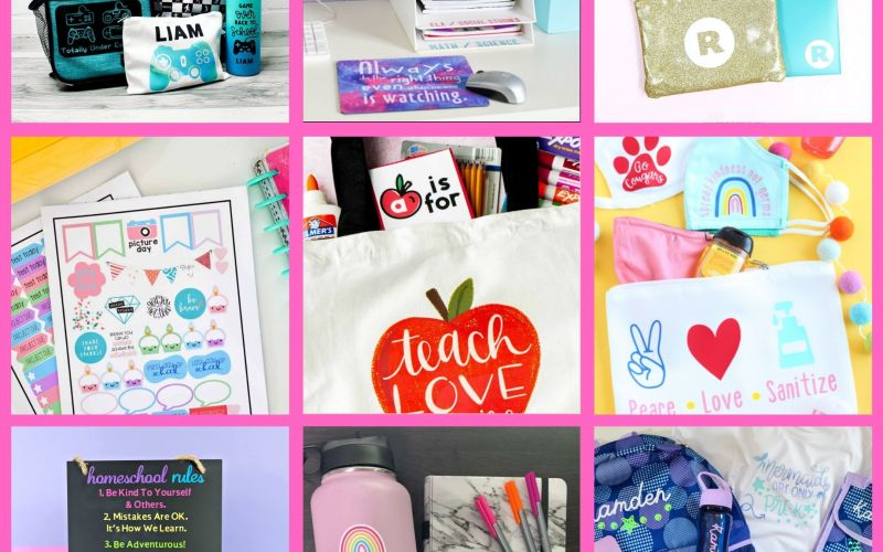 TOP 10 BACK TO SCHOOL                        CRICUT PROJECTS