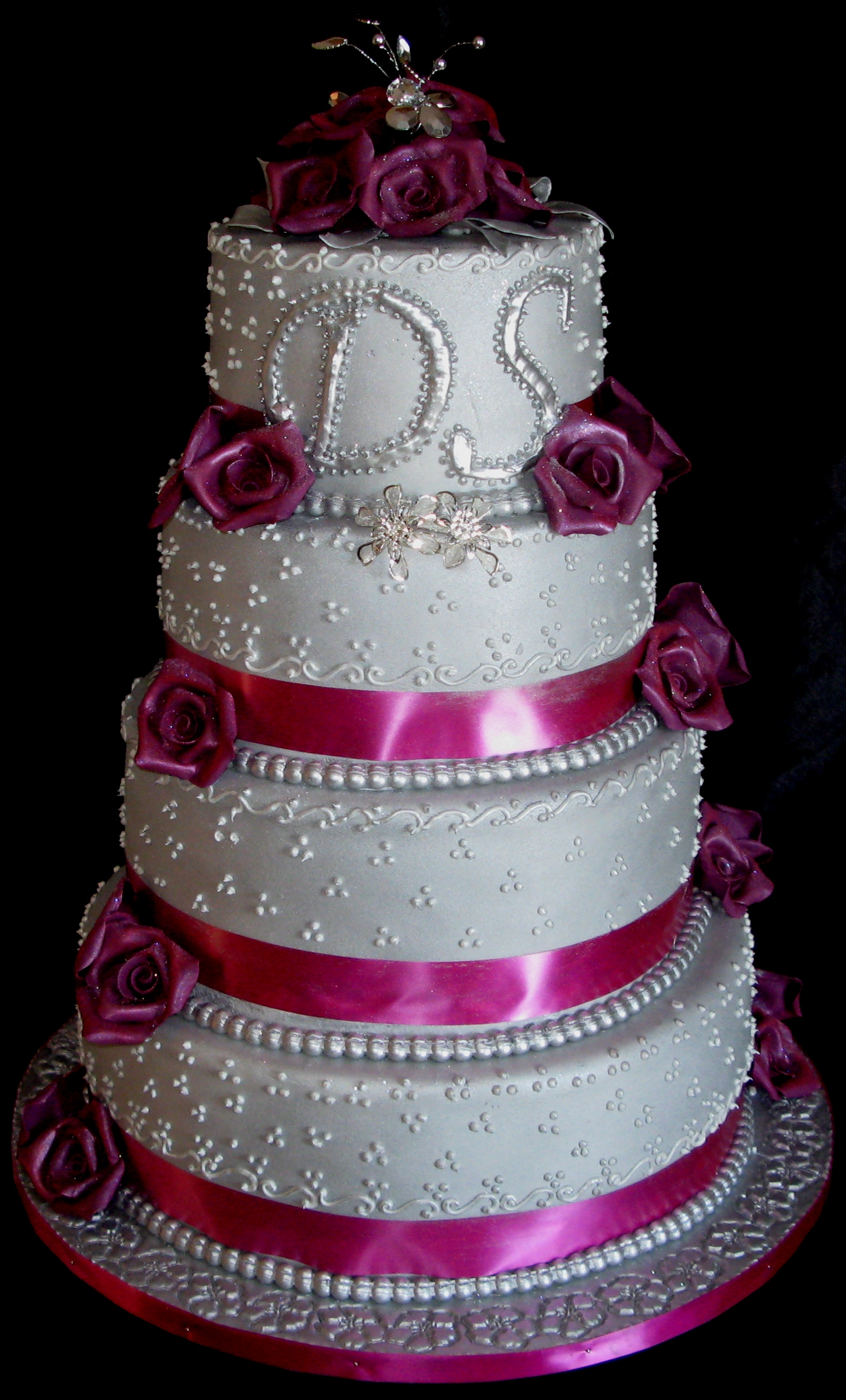 Four Tier Wedding Cake Roses Cake Studio Botswana