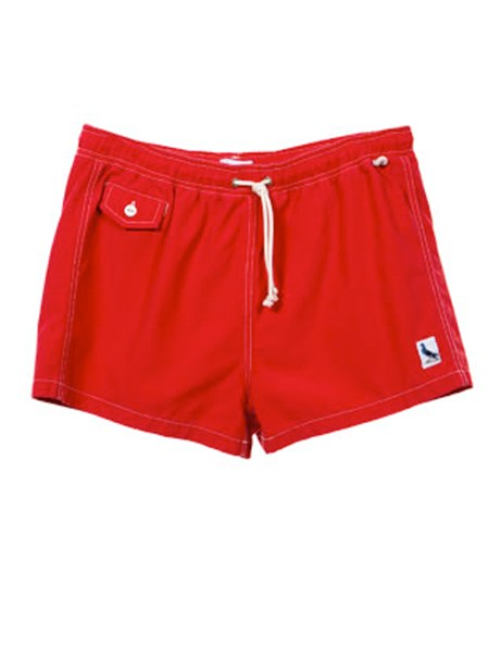 Swim Trunk Short Swim shorts are in! These shorts feature a drawstring tie closure, back pocket with button flap closure, and a button front coin pocket and side loop for storage. 100% cotton made in the USA $148.00