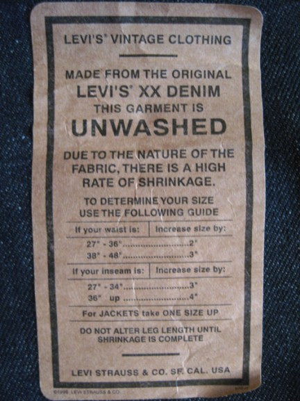 Sizing Label